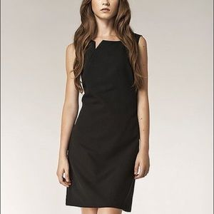 NIFE Slit Sleeveless Sheath Dress